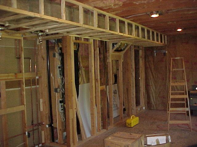Basement Remodel Project Framing